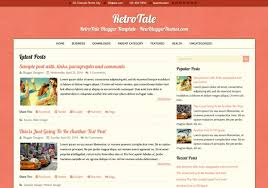 retrotale blogger template u2022 blogspot templates 2018