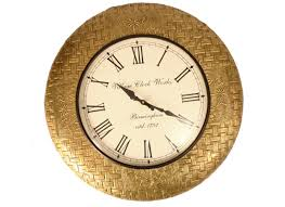 handcrafted design metal wall clock lowest price online