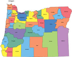 map of oregon state oregon map with counties