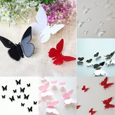Butterfly 3d Wall Art by Gratis 3d Shipping12pcs Vlinders Kamer Kunst Aan De Muur Stickers