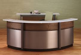 Granite Reception Desk Wood Curved Reception Desk U2014 All Home Ideas And Decor