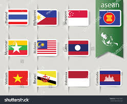 Flags Of Nations Abstract Set Nation Flags Southeast Asia Stock Vector 197671037