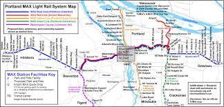 portland light rail map max map portland afputra com