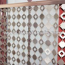 Chain Mail Curtain China Metal Chain Mail Curtain Aluminum Panels Drapery