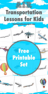 air transportation lessons for kids printables the natural