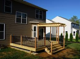 8 X 10 Pergola by Pressure Treated Deck W Pergola U0026 Aluminum Railings Liberty