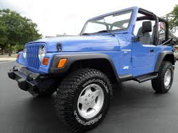jeep wrangler unlimited sport blue highland motors chicago schaumburg il used cars details