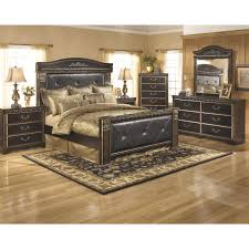 Ashley Bedroom Set With Leather Headboard Ashley Coal Creek B175 Midha Furniture Gallery