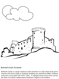 irish castle coloring page bothwell scotland coloring pages coloring book