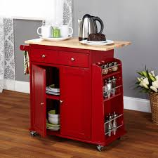 kitchen island red kitchen island cart butcher block top