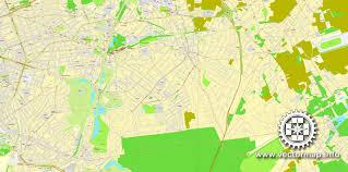 map brussels brussels bruxelles belgium printable vector city plan map