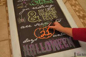 Printable Halloween Calendar Tips For Word Art On Chalkboards Her Tool Belt