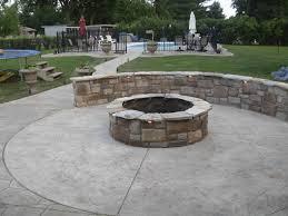 stone deck ideas concrete patio with paver border concrete patio