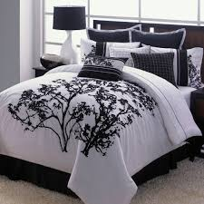black and white bedroom comforter sets modern twin black and white tree printing comforter sets with