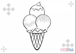 good ice cream cone coloring pages printable with ice cream cone