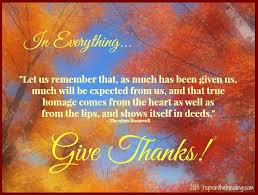 in everything give thanks in the healing with nannette