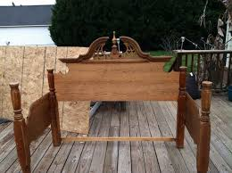 Bed Frame Bench An Outdoor Bench Made From An Bed Frame Hometalk