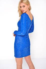blue bodycon dress usco shimmer bodycon dress in blue iclothing