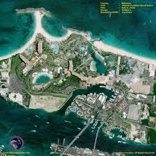 satellite image of atlantis paradise island resort satellite