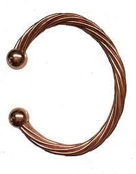 copper bracelet men images Kiskatomcat twisted wire magnetic copper bracelet for jpg