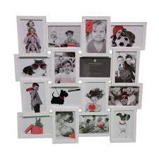 cadre photo pêle mêle mural capacità 16 photos coloris blanc