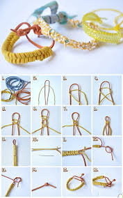 bracelet diy easy images Diy easy leather bracelet fabdiy jpg