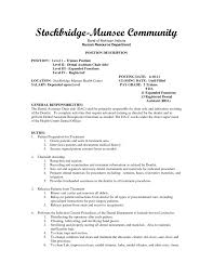 Veterinarian Resume Examples Dental Assistant Responsibilities Resume Resume For Your Job