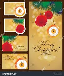 set christmas cards postcard gift cards stock vector 147873527