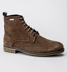 superdry brad brogue stamford tan suede mens boots treds