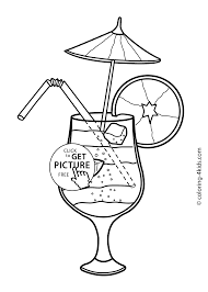 cocktail coloring pages kids free printable