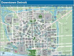 Usa Campus Map by Detroit Downtown Map