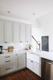 ikea white shaker kitchen cabinets our kitchen renovation details herringbone backsplash gray