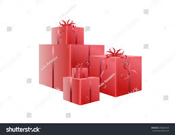 boxes with bows set glance gift boxes bows stock vector 546867643