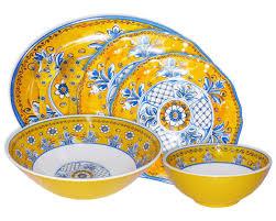 melamine sets of dishes certified international 18 talavera