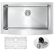 kraus farmhouse apron front stainless steel 36 in single basin