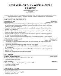 resume restaurant manager unforgettable restaurant manager resume