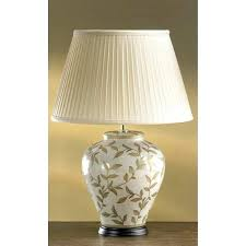 ceramic table lamp brown and gold leaves ginger jar ceramic table lamp complete with shade a ceramic table lamp