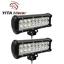 led security light bar yitamotor 2 x 54w 9 inch led spot flood combo work light bar 4wd