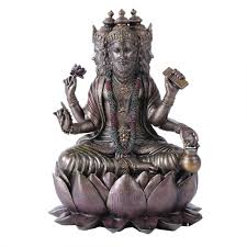 Buddha Statues Home Decor by Brahma Bronze Resin Hindu God Statue Buddhist Hindu Gods