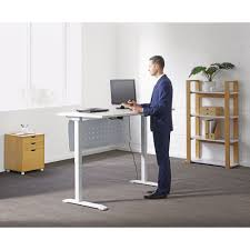 Computer Desk With Adjustable Height by Computer Desks Officeworks