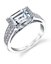 solitaire emerald cut engagement rings emerald cut engagement rings martha stewart weddings