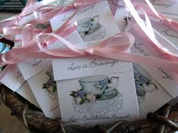 personalized tea bags july 4th party favors 20 medley pink white teacup