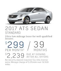 cadillac ats offers current lease offerings from frank kent cadillac