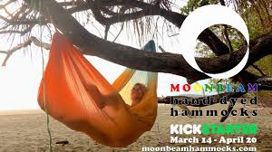 the moonbeam hand dyed adventure hammock in 17 colors by daniel