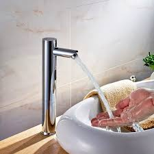 Automatic Bathroom Faucet by Fontana Tall Automatic Touch Free Lavatory Bathroom Sink Sensor