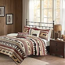 What Is A Coverlet Used For Lodge Style Bedding U0026 Bedding Sets Lodge Curtains Bed Bath U0026 Beyond