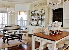 Kitchen Trends Modern Rustic Farmhouse Callier And Thompson - farm table kitchen island images silver and white christmas