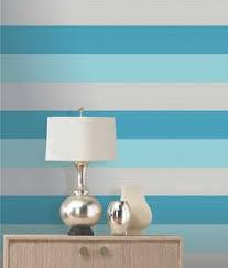 sanderson u0027tatami stripe u0027 wallpaper in country homes u0026 interiors