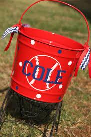 easter pail custom easter basket metal pail varsity softball baseball sports