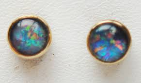 9 carat gold earrings opal 9 carat yellow gold earrings g06 5631 26